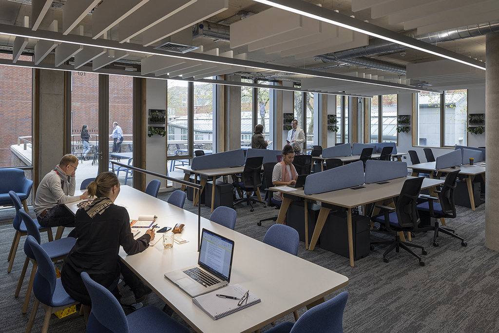 Shared workspace at the Dryden Enterprise Centre